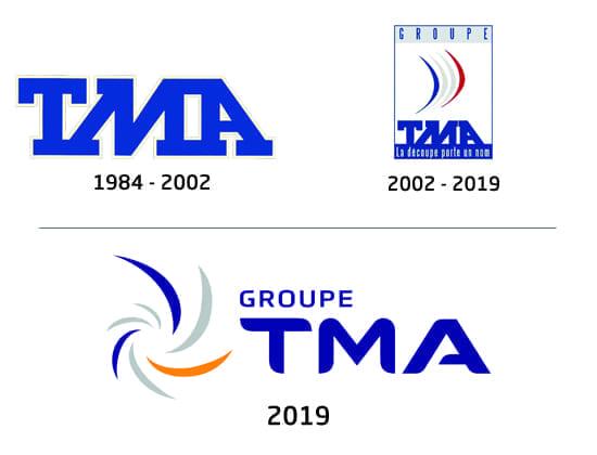 previous logos of Groupe TMA